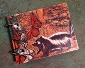 Skunk Note Book - Recycled Notebook - Small Refillable Notepad - Upcycled Children's Book