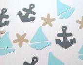 Sail Boat Confetti, Beach Wedding, Starfish, Anchor, Seashore Mix, Nautical Birthday Theme, Retirement Party, Beachy Baby Shower