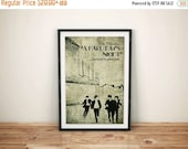 GEEKLOVE SALE Feel Alright // A Hard Day's Night Alternate Movie Poster // Factory, Silhouettes and Vintage Typographic Print