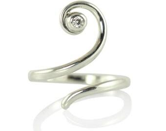 FAUN twining silver ring