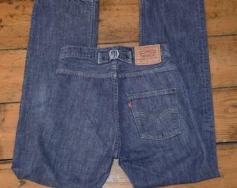 Rare Levis 541 Cinch Back Classic Vintage Rockabilly Levi Jeans Japan