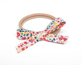 Hand-tied Liberty of London Bow  || One Size Headband or Hair Clip