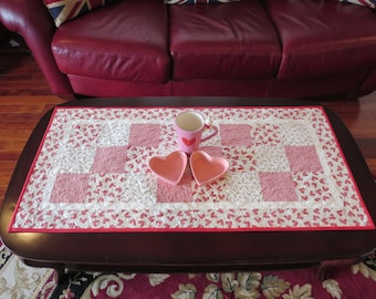 Valentine Quilted Table Runner