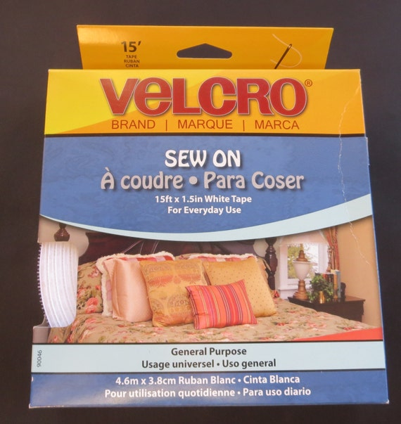 Flash Sale - Sew On Velcro 15 Ft x 1.5 Inches - WhiteTape