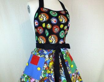 Super Mario Bros Kitchen apron - nintendo game style