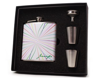 Personalized Flask Gift Set // 6oz flask set