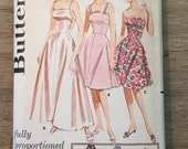 RARE 1950'S Butterick Sewing Pattern 2304 Misses Fitted Full Slip Dress Size 18 uncut- sewing pattern, 1950s,Butterick slip dress