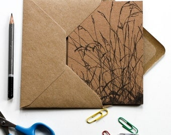 Long Grass - wraparound kraft card