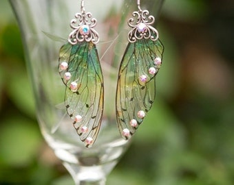 Silver Alseid Fairy Wing  earrings