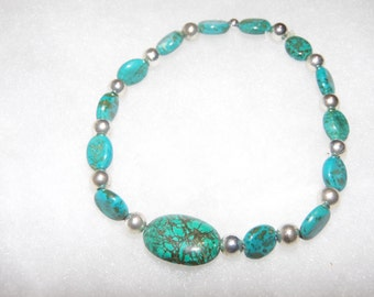 Turquoise Bracelet or Ankle Bracelet