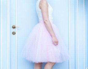 Light pink tulle skirt, bridesmaid tulle skirt