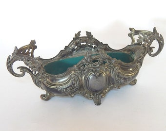 French Antique Metal Jardiniere (Planter) Belle Epoque