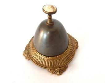 Vintage French Hotel Desk Bell