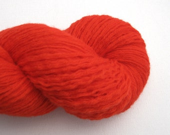 Sport Weight Recycled Merino Wool Yarn, Stop Sign Red, Lot 020616