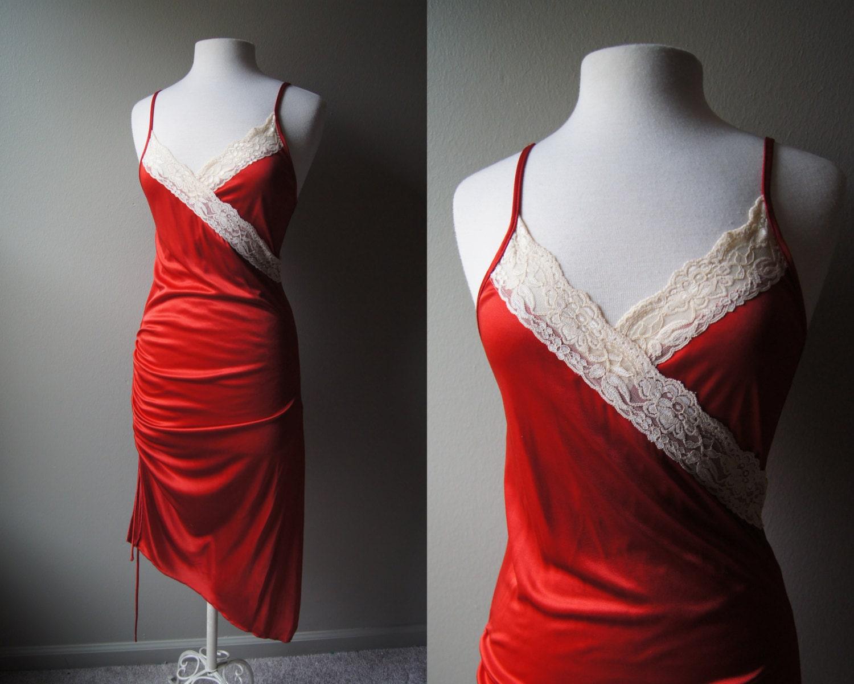 vintage boudoir shoot slinky asymmetric