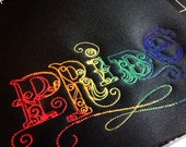 Rainbow pride embroidered mousepad