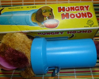 Hungry Hound Vintage Wind Up Toy, 1960s