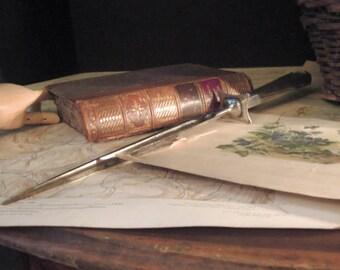 Vintage / Antique Sterling Knife Sharpener / Silver Knife Monogrammed M Sharpener / English Sterling / Antique Flatware Silver Cutlery
