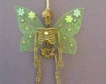 Skeleton Fairy, Dia de los Muertos, Halloween, Fairy Ornament, Day of the Dead