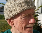 PDF Download Knitting Pattern for the Unisex Eccentric Rib Watch Cap
