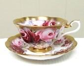 Vintage Royal Albert RUBY Summer Bounty Series English Bone China Tea Cup and Saucer Set