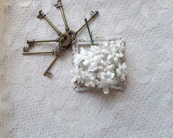 Scrapbooking, Mulberry Paper Flowers, White, Wedding, Mixed Media, White