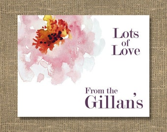 Wedding Thank You Notes / Bridal Thank You / Thank You From the New Mr and Mrs Stationery Note Card Set - Bridal Thank You Card | Floral