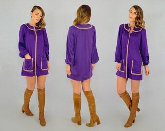 70's Purple Mini Dress