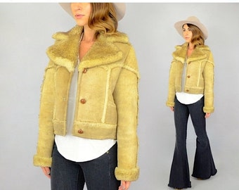 WINTER SALE 70's Sheepskin Patchwork Jacket
