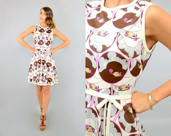60's Novelty MOD Mini Dress