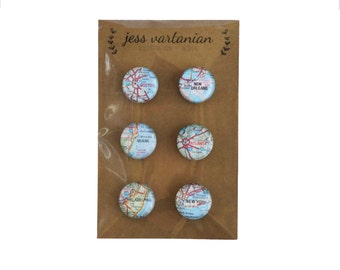 READY TO SHIP!! East Coast of the United States Map Magnets