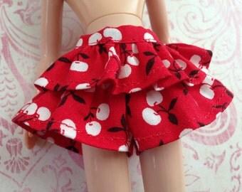 Cheery Cherry Skort ~~ Skort/Shorts/Skirt for Blythe doll ~~ Skort ONLY ONE piece