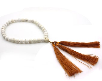Tibetan Buddhist 10mm x 10mm Stone Prayer Beads Mala  B036-ZQ001