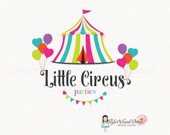 circus tent logo party logo design children's boutique logo premade logo design photography logo event planner logo circus logo design