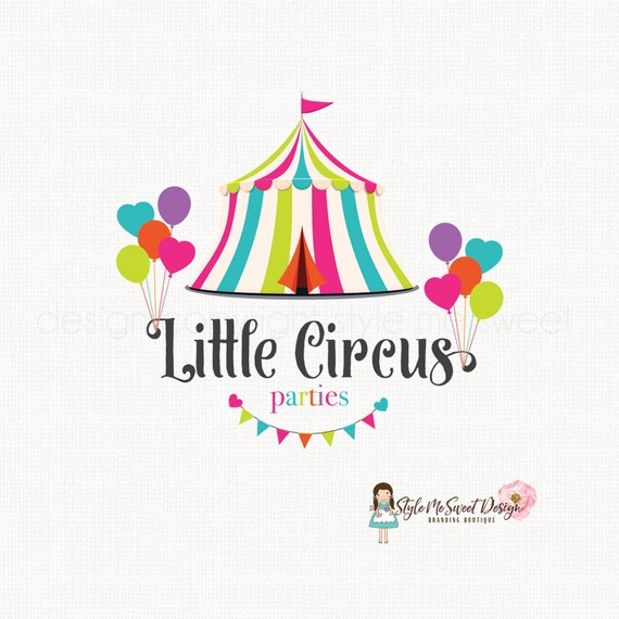 circus tent logo party logo design by stylemesweetdesign