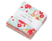 Reserved for Nevin Moda Little Ruby MINI Charm Pack by Bonnie and Camille- 8 charm packs