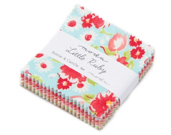 Moda Little Ruby MINI Charm Pack by Bonnie and Camille. New Fabric Just Arrived