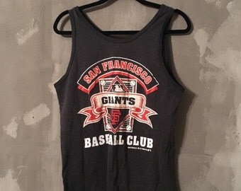 40% OFF (C) Vintage 1980s 1988 SF San Francisco Giants Baseball Club Tank Top M