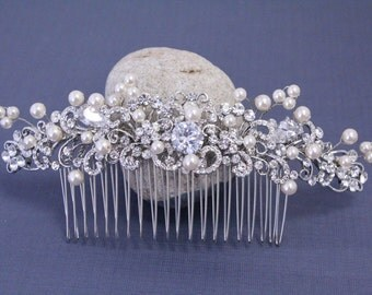 Wedding accessories Wedding hair jewellery Wedding decorative combs hair comb pearl Wedding hair piece Bridal hair comb pearl Wedding comb