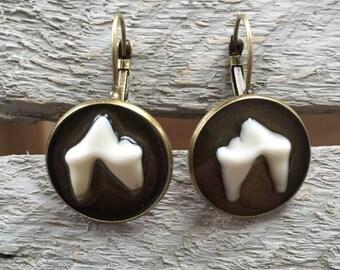 Coyote Teeth Drop Earrings