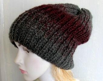 Women's Knit Hats Women's Winter Hat Women's Hats Hand Knit Hat Women Knit Hat Woman Cable Knitted Hat Goth Hat Woman Knit  French Hat Caps