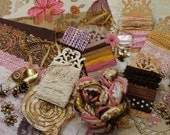 Choc. Covered Strawberries. Inspiration Kit And Embellishment Kit. Pinks, Antique Golds and Browns No 232