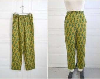1960s Paisley Print Pants