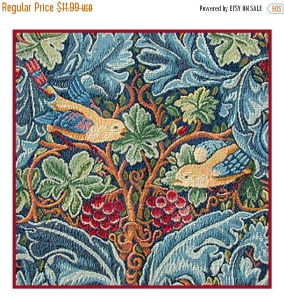 NOW ON SALE Acanthus and Birds Counted Cross Stitch Pattern -  William Morris Arts and Crafts Style