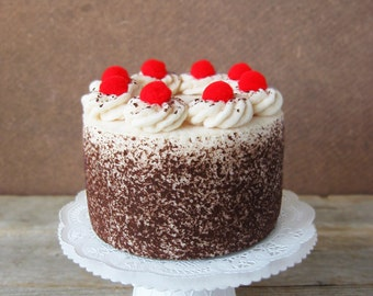 Felt Food Black Forest Cake