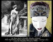 Headpiece,Art Nouveau,Art Deco Headpiece,Downton Abbey,1920s Headpiece,20s Dress Headpiece,Flapper Head Piece,Flapper Headband,20s Headdress