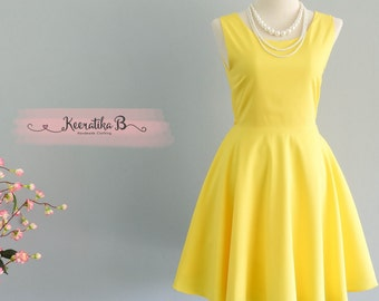 Party Angel Dress Lemon Yellow Backless Party Dress Yellow Backless Dress Prom Party Wedding Cocktail Bridesmaid Dresses Yellow Dress XS-XL