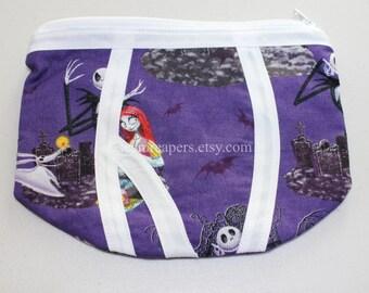 nightmare before christmas themed underwear zipper purse