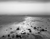 black and white photography, beach, shore, beach photography, lakeshore, silver, metallic, landscape photography, Silver Shore
