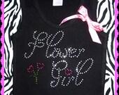 SALE Rhinestone Flower Girl Tank Top or Tshirt bridal party tank tops flower girl gift
